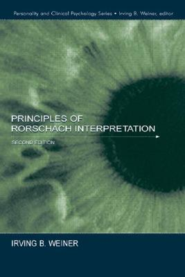 Principles of Rorschach Interpretation By Weiner, Irving B.
